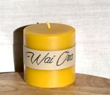 Organic Beeswax Pillar Candle