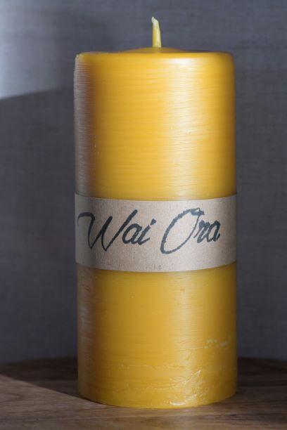 Large Beeswax pillar Candle